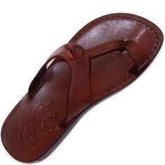 Unisex Adults/Children Genuine Leather Biblical Sandals / Flip flops (Jesus - Yashua) Nazareth Style - Holy Land Market Camel Trademark *** Awesome product. Click the image at Sandals board