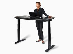The Stir Kinetic Desk M1 learns your routine, notifies you of the best times to sit and stand, and raises and lowers itself with its quiet motorized legs.