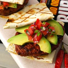 Nibble Me This: Chorizadilla Burger  Chorizo, Avocado, Pico de Gallo sandwiched between 2 quesadillas? I think I'm going to die, because I am in heaven.