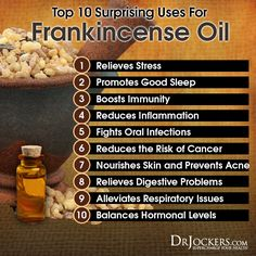 One of the most powerful essential oils is frankincense. Discover the top 10 most surprising uses for frankincense oil in this article Frankincense Essential Oil Uses, Frankincense Benefits, Doterra Essential Oils, Doterra Frankincense, Young Living Frankincense, Cedarwood Essential Oil Uses, Essential Oils For Congestion, Healing Oils, Essential Oils