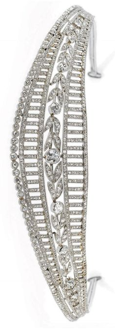 THIS IS THE REAL SPARKLE! ANYONE IN THE MOOD FOR A TIARA? A diamond tiara by Jacques Chaumet, 1900.