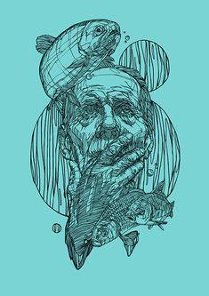 Illustrations by Rustam QBic Salemgaraev | Inspiration Grid | Design Inspiration