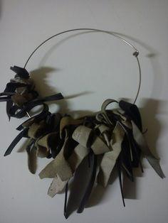 PUNX NOT DEAD inner tube rubber & leather chocker by artikultcat on Etsy, €35.00