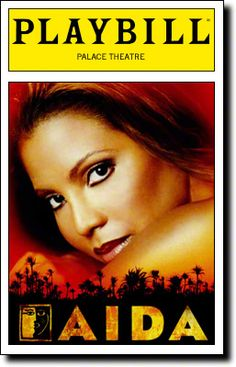 Here is a Playbill from Disney's AIDA from late in its run, when Toni Braxton was playing Aida.