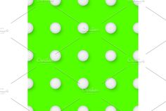 Golf sport seamless pattern. Golf balls on green background. Endless texture can be used for wrapper, cover, package, pattern fills, surface textures. Geometric Patterns, Green Backgrounds, Golf Ball, Balls, Surface, Texture, Cover, Sports, Surface Finish