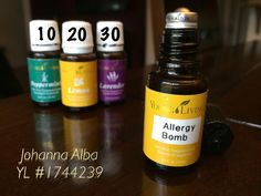 My itchy throat, watery eyes& sneezes didn't last with my roll-on! This is the combo I used & topped it off w/Jojoba oil. I apply to bridge of nose & around orbital bone, on throat & to soles feet. I used:30 drops YLLavender, 20 drops YLLemon, 10 drops YLPeppermint & reapplied every 3hrs for preventative measures.