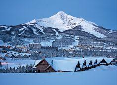 Lone Peak in Big Sky, Montana.  Home to the Biggest Skiing in America!