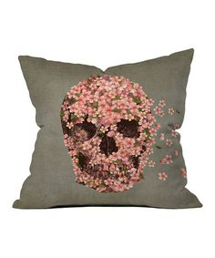 Take a look at this Flowers & Skull Throw Pillow by DENY Designs on #zulily today!