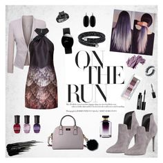 """""""Ombre dress"""" by suljic-melika ❤ liked on Polyvore featuring WithChic, Ted Baker, Kate Spade, Kendall + Kylie, MICHAEL Michael Kors, Rado, Kendra Scott, Swarovski, Urban Decay and Bobbi Brown Cosmetics"""