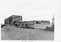 Burdekin Bridge construction 1955. Queensland State Archives.