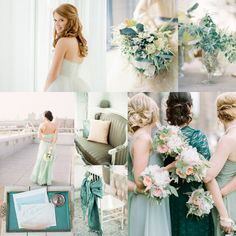 Mint Teal Wedding Colors | EAD  winter/early spring wedding colors