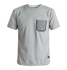 dcshoes, Men's Beryle Pocket Tee, HEATHER GREY (knfh)