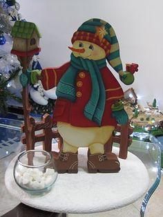 El Taller de Nana: Pintura Navidad Very Merry Christmas, Christmas Wood, Country Christmas, Christmas Crafts, Christmas Decorations, Xmas, Tole Painting, Painting On Wood, Winter Wood Crafts