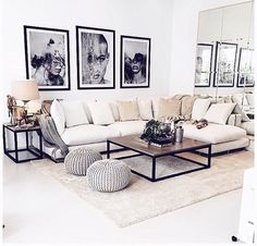 Living room decor apartment beige couch 44 Ideas for 2019 Beige Sofa Living Room, Beige Couch, Living Room Red, Small Living Rooms, Home And Living, Living Room Decor, Interior Design Living Room, Living Room Designs, Decoration Inspiration