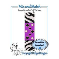 Mix e Match - Loom modello di bracciale polsino