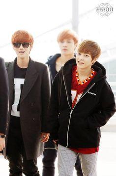 Nov 2013,, Exo | Exo-m | - Luhan Lulu Xiaolu & Xiumin Kim Minseok #lumin #xiuhan airport