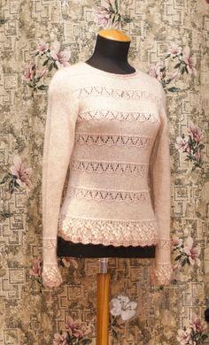 Джемпер Крем - брюле Lace, Sweaters, Tops, Women, Fashion, Moda, Women's, La Mode, Pullover