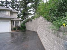 Another vertical wall at a residential home