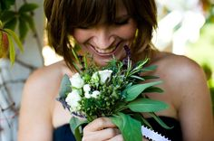 Gorgeous green bouquet. Wedding planning by Simply Wed. www.simplywed.com