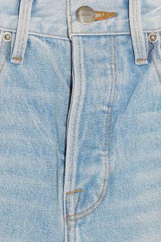 FRAME - Le Original Skinny Distressed High-rise Straight-leg Jeans - Blue - 26