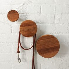 Shop set of 3 dot coat hooks. Reclaimed from old homes under renovation in northern India, sen wood comes full circle in eco installation. Aged up to 50 years, wood is sanded smooth to enhance varying tone, grain, knots and splits that make each unique. Modern Wall Decor, Metal Wall Decor, Wall Art Decor, White Wall Shelves, Gold Shelves, Wall Mounted Shelves, Wall Hooks, Wood Bike, Frame Shelf