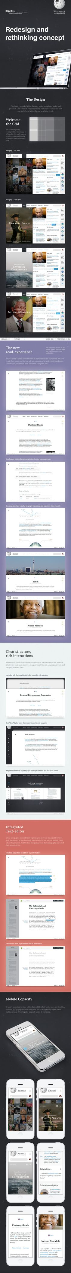A nice Wikipedia redesign attempt. #redesign #responsive #bigsite #platform #ui #ux #design #interface