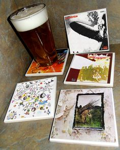 Led Zeppelin ceramic tile album cover coasters #gettheledout