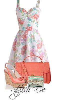"""This Would Make A Lovely Easter Outfit!  """"Untitled #3394"""" by stylisheve ❤ liked on Polyvore"""
