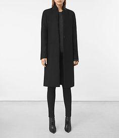 Women's Nehru Coat (Black) -