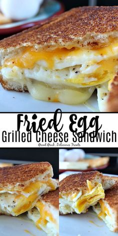 Fried egg grilled cheese sandwich has two delicious fried eggs two types of cheese texas toast and is a delicious breakfast sandwich friedeggsandwich grilledcheese breakfastsandwich brunch greatgrubdelicioustreats chocolate chip coconut baked oatmeal Gourmet Sandwiches, Best Sandwich Recipes, Breakfast Sandwiches, Grill Cheese Sandwich Recipes, Sandwich Ideas, Grilled Cheese Sandwiches, Sandwiches For Dinner, Picnic Sandwiches, Panini Sandwiches
