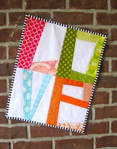 True Love ~ LOVE Mini-Quilt Pattern + Tutorial « Sew,Mama,Sew! Blog