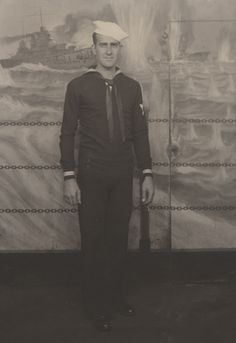 Q54904 - John Thomas Spencer of Montgomery, Alabama, in his naval uniform. Spencer served in the U.S. Navy during World War II aboard the U.S.S. Wyoming in the North Atlantic. He married Madera Adams on March 1, 1941. (ADAH)