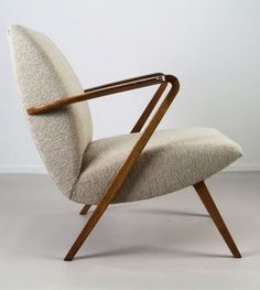 A.A. Patijn; Teak 'Poly-Z' Lounge Chair for Zijlstra, 1950s. - http://centophobe.com/a-a-patijn-teak-poly-z-lounge-chair-for-zijlstra-1950s-2/ -