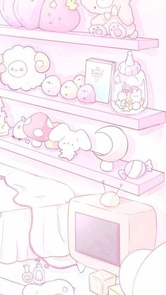 Cute Pastel Wallpaper, Soft Wallpaper, Cute Anime Wallpaper, Aesthetic Pastel Wallpaper, Wallpapers Kawaii, Cute Cartoon Wallpapers, Kawaii Background, Pastel Background, Kawaii Doodles