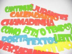 COMBO de 15 escritas para cartazes de rotina