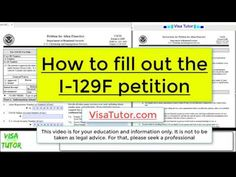 A step-by-step video on how to fill out the I-129F form for the fiance K-1 visa petition for 2020