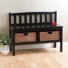 You'll love the Offerman Wood Storage Entryway Bench with Rattan Baskets at Wayfair - Great Deals on all Furniture  products with Free Shipping on most stuff, even the big stuff.
