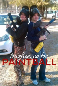 One girl's tale of toughening up for an all day paintball #adventure. @Becky Smith @Lawrie Talansky
