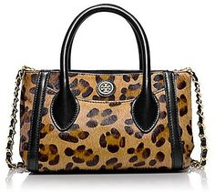 Tory Burch Savannah Tiny Tote, Cross Body, Leopard, Leopard Cross Body.