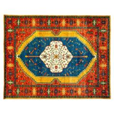 """Check out this item at One Kings Lane! 9'1""""x11'7"""" Pelagie Rug, Gold"""