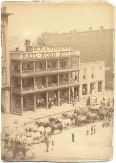Andrews Railroad Hotel, Detroit - unknown date (Burton Hist. Collection of the DPL) State Of Michigan, Detroit Michigan, Detroit Downtown, Old Pictures, Old Photos, Detroit Hotels, Detroit History, Detroit Area, Great Lakes