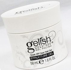 Nail Harmony Gelish UV Gel Polish Structure Gel Clear is a one-step option in the application of a Gelish Soak-Off manicure. The Gelish Soak-Off gel polish : Size 1.6 fl oz, 50 ml. (Pack 2). GELISH STRUCTURE Clear Gel - has the molecular structure that creates a thicker viscosity soak off gel for reinforcing strength, enhancing the nail or repairing a damaged nail plate. The STRUCTURE Gel is a clear soak off gel product that can quickly be removed with Soak Off Gel Remover. GELISH…