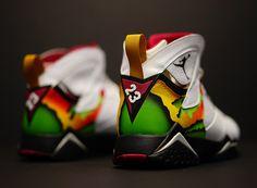 "Air Jordan 7 ""Air Tech Challenge 3/4″ Customs by Ramses"