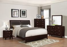"""Donovan 5 Piece Bedroom Suite $1129.00 Queen or $1229.00 King  Individual Pieces: Dresser and Mirror $479.00 61"""" x 16.5"""" x 37"""" / 42"""" x .9"""" x 36.5"""" H Chest of Drawers $319.00 37.2"""" x 16.5"""" x 49"""" H Night Stand $199.00 23"""" x 16.5"""" x 24.8"""" H   C/M B5800"""