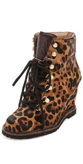 dvf animal-print lace-up ankle booties