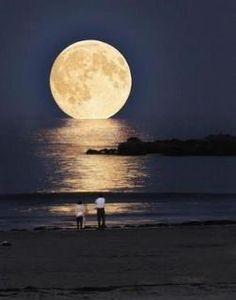 walk on the beach during a full moon....