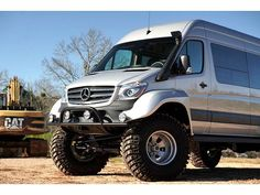 Benz Sprinter, Mercedes Sprinter, Mercedes Benz, 4x4 Van, House On Wheels, 2 In, Monster Trucks, Vans, Vehicles
