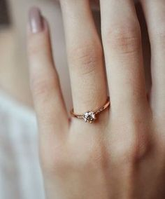 Delicate Wedding ring. It's not about the bling, it's about the fling (feelings, love, involvement, nurture, and graciousness) associated with the engagement. Trends: gold, rose gold, diamond, antique, slim, delicate, pretty, feminine, 2017