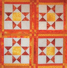 """""""Ohio Star"""" from Quilting-on-the-Go by Carolyn Forster. Everybody loves a star quilt! This variation on the popular Ohio Star quilt block uses Carolyn's quilting-on-the-go technique. Find it online: http://landauerpub.com/Quilting-on-the-Go.html"""