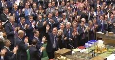 He was applauded after saying he would be willing the whole House of Commons on from the back benches